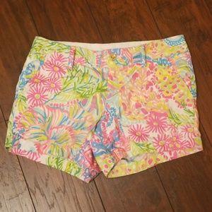 Lily Pulitzer Callahan short neon floral Z217:6:61